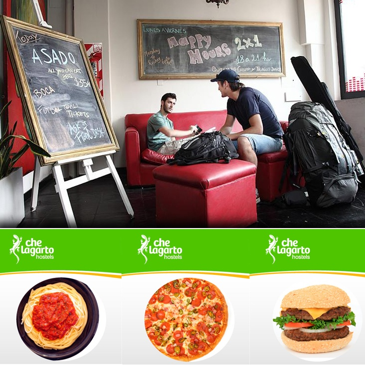 Hostels in Buenos Aires are very social and they offer cool activities, e.g. the Che Lagarto Hostels!    - Bar (until 24 hs)  - a whole Playroom   - Happy Hours from 18 - 12 o'clock    - And for the food lovers: Pizza, Pasta and Burger Night!    http://www.gomio.com/en/hostels/south_america/argentina/buenos%20aires/Che%20Lagarto%20Hostel%20Buenos%20Aires/overview.htm    #travel #BuenosAires #Argentina #Hostel