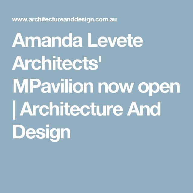 Amanda Levete Architects' MPavilion now open   Architecture And Design