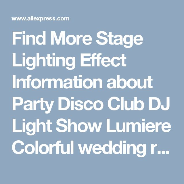 Find More Stage Lighting Effect Information about Party Disco Club DJ Light Show Lumiere Colorful wedding room beam lights background Mini RGB lamps LED Stage Effect Lighting,High Quality light show,China mini rgb led Suppliers, Cheap bulb party from JINLONGKE Store on Aliexpress.com