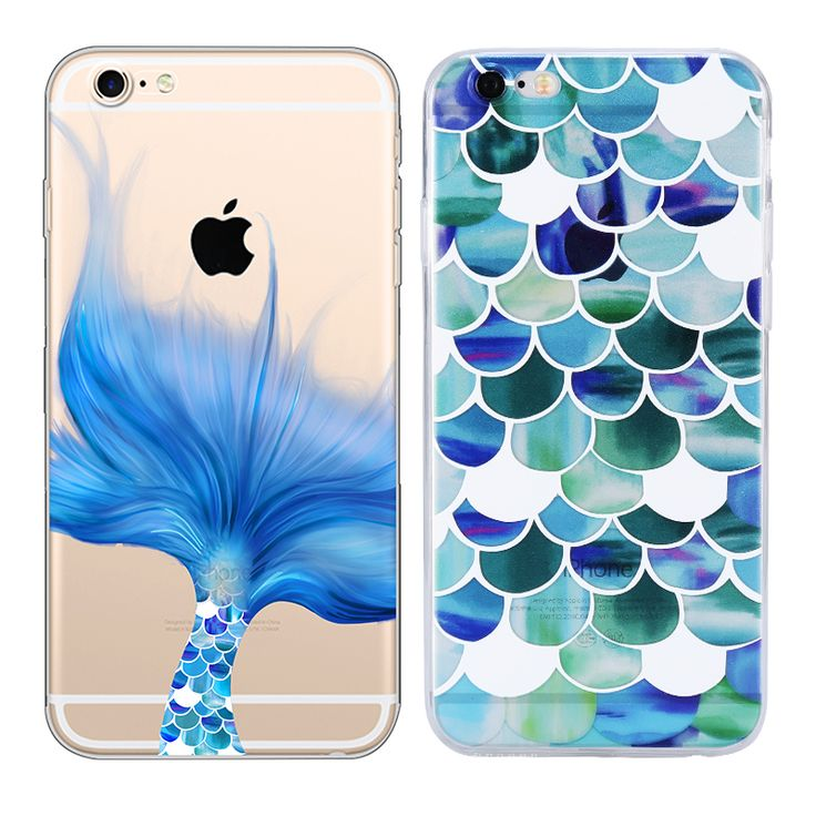Factory wholesale phone cases for Apple Iphone 7 Plus 6 6s plus Case Vintage Transparent Mermaid Chart TPU Kickstand Back Cover