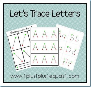 ***Letter Tracing Printables link to free printables for each letter with BIBLE