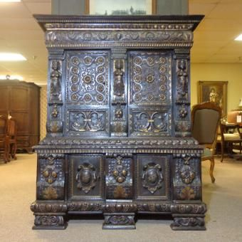 18th Century Italian Antique Walnut Cabinet