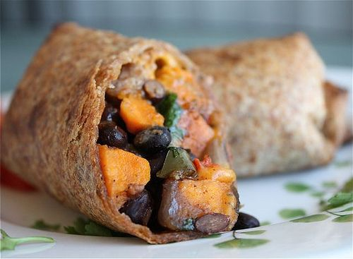 ... black bean burrito veggie wraps bean burritos roasted sweet potatoes
