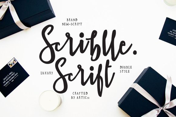 Brush Script Font - Scriblle by Ease Type on @creativemarket