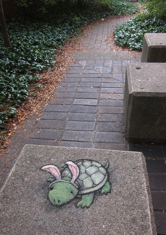 Street chalk drawings by David Zinn  (18)