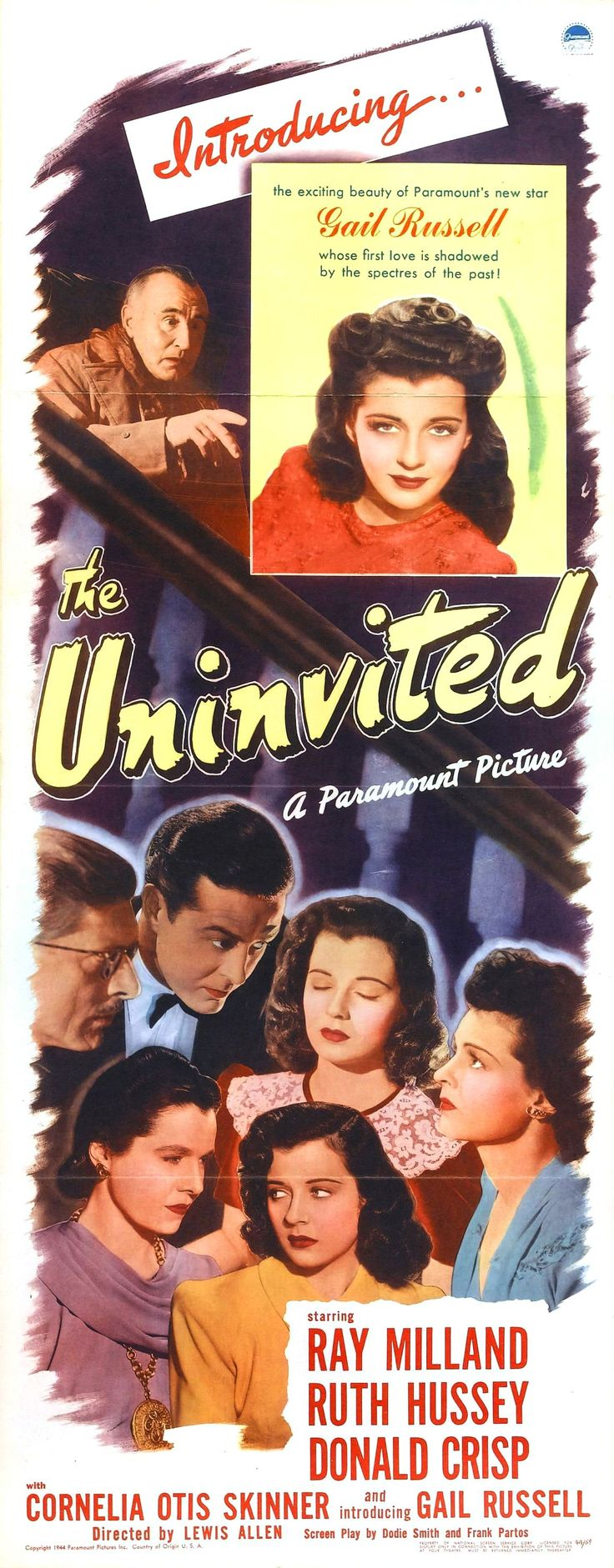 """""""The Uninvited"""" (1944) Gail Russell, Ray Milland, Ruth Hussey, Donald Crisp"""