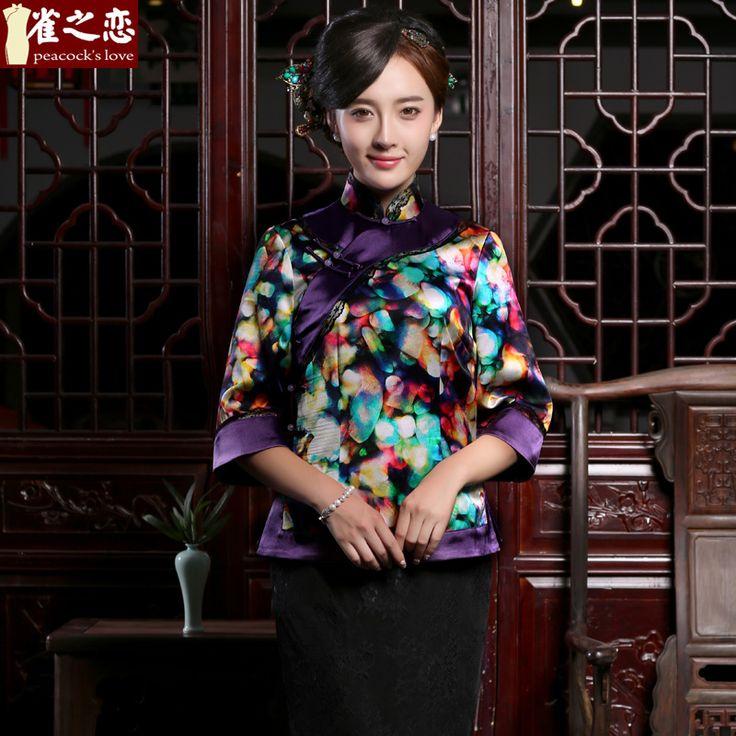 Fascinating Luxury Fine Silk Cheongsam Qipao Blouse - Chinese Shirts & Blouses - Women
