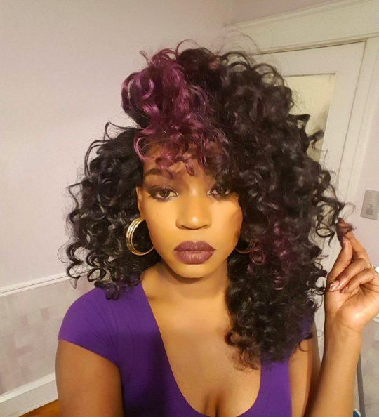 Crochet Braids Queue De Cheval : 1000+ idEes ? propos de M?ches Violettes sur Pinterest Les points ...