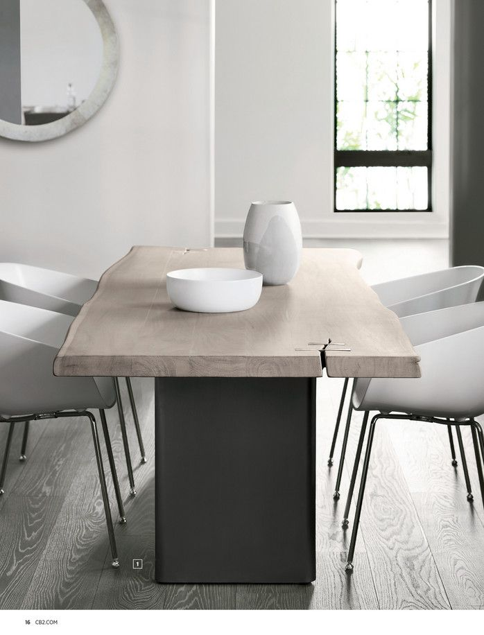 Cb2 September Catalog 2018 Landscape White Washed Wood Dining