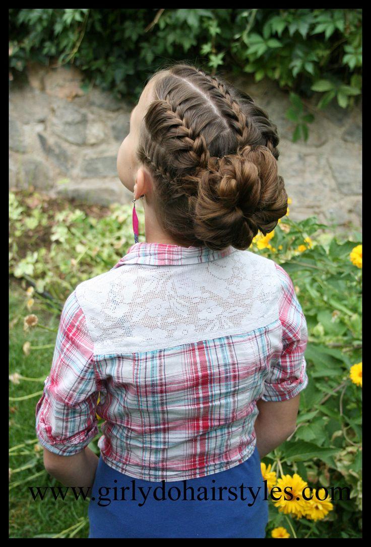 Girly Do Hairstyles: By Jenn: Big Flower Bun Updo Style