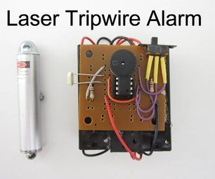 DIY Laser Tripwire Alarm. Sleep with a secure perimeter anywhere you go...