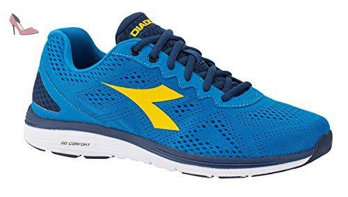 Diadora 101.158948 - Chaussures, Azzurro/Vert Acido/Bleu azzurr, Taille 42