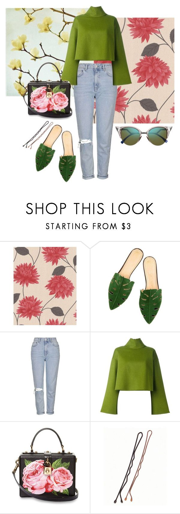 """""""spring time swing"""" by nover on Polyvore featuring Graham & Brown, Topshop, Bally, Dolce&Gabbana and Fendi"""