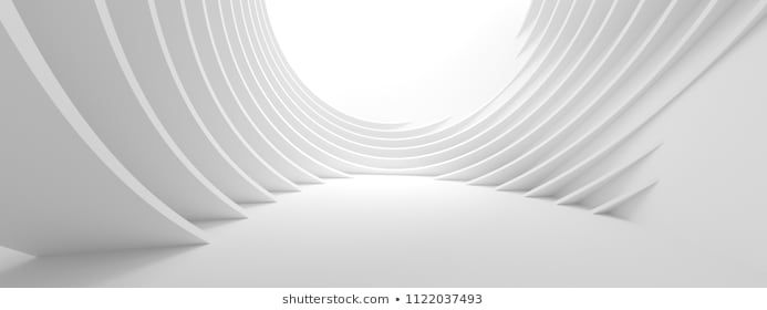 Abstract Architecture Background 3d Illustration Of White