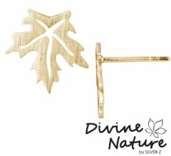 """Maple""  14 k gold plated sterling silver earrings."