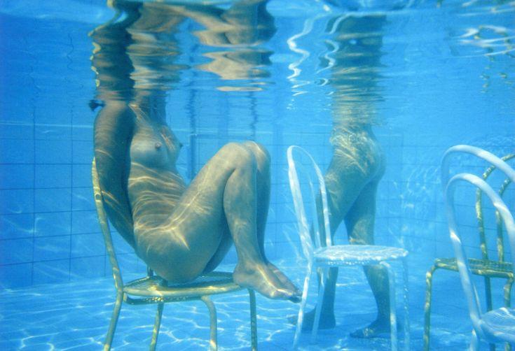 Clinio & Biavati III, swimming pool, Bologna, Italy, 1987, by Franco Fontana
