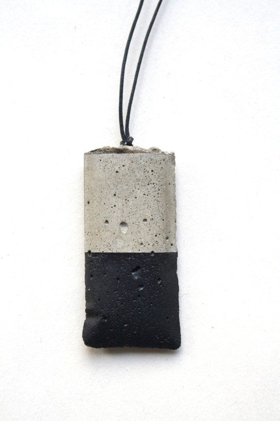 Black concrete necklace