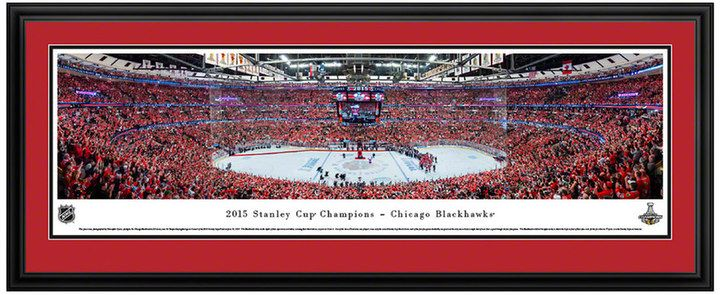 NHL Chicago Blackhawks Hockey Arena 2015 Stanley Cup Champions Framed Wall Art