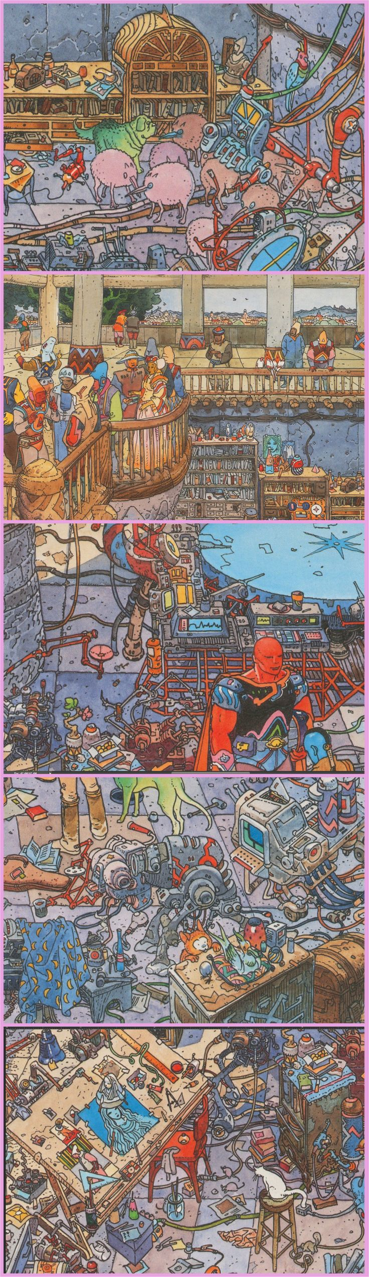 Moebius: The City of Fire -- Studio at Day TIme, detail shots