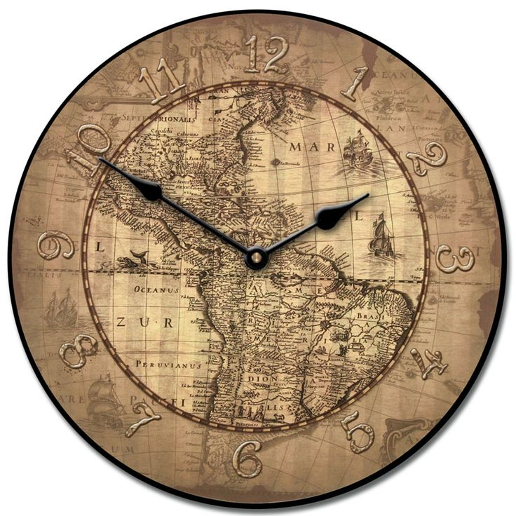 27 best world map clocks images on pinterest world maps wall century parchment map wall clock 10 60 whisper quiet nonticking continue to the product at the image link gumiabroncs