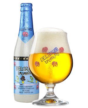 Delirium Tremens, blonde triple fermented beer