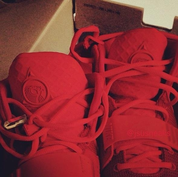 All red Air Yeezy II's... Icy!