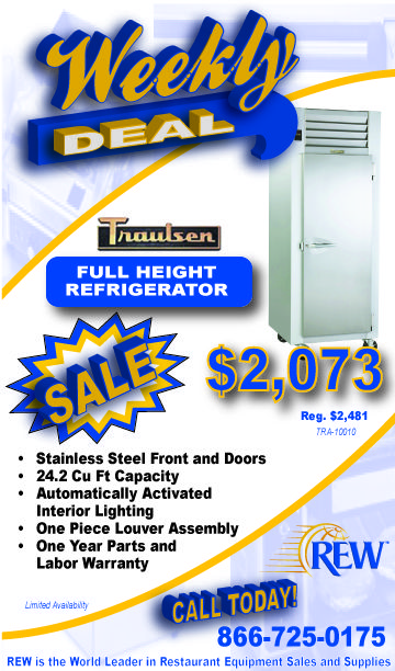 Traulsen Full Height Refrigerator on sale for $2,073!
