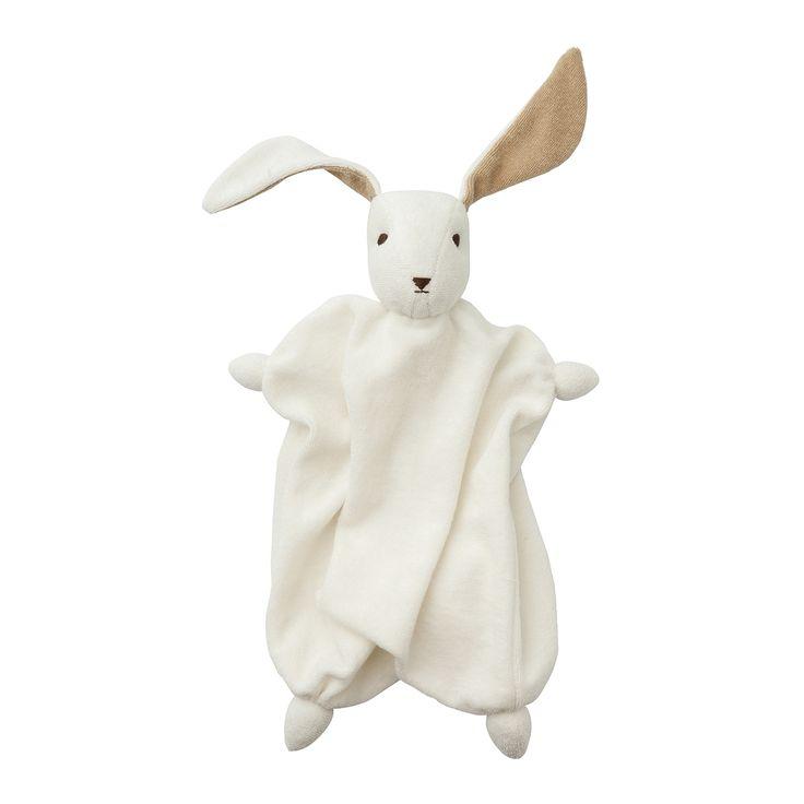 Ekologisk snuttefilt kanin. Barnrumsinredning & inspiration till barnrum. Babyprodukter, leksaker och barnrumsinredning. Ekologiska babyprodukter.