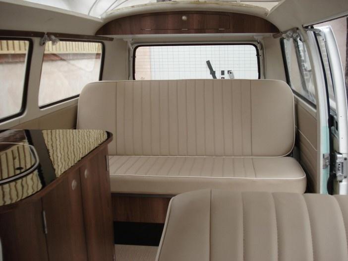 Bodhi 75 vw bay window campervan american walnut www for Vw kombi interior designs