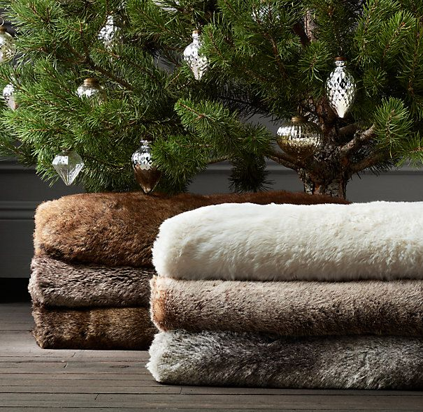 $69 Luxe Faux Fur Tree Skirt