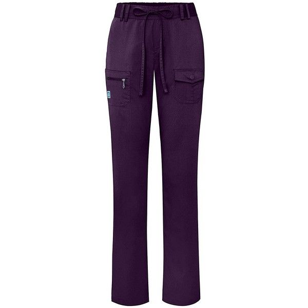 Adar Indulgence Womens Low Rise Tapered Leg 6 Pocket Drawstring Scrub... ($27) ❤ liked on Polyvore featuring pants, peg leg pants, tapered leg pants, peg-leg trousers, peg leg trousers and peg-leg pants