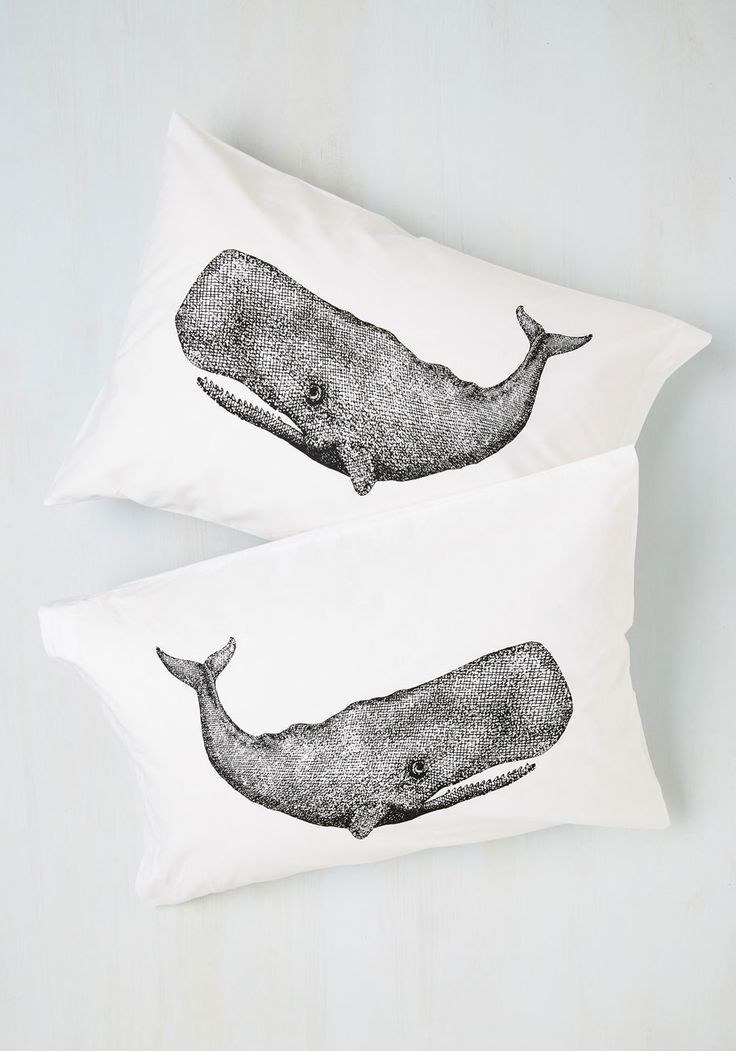 Worth Your Whale Pillowcase Set. To nap or not to nap - is there any question? #white #modcloth