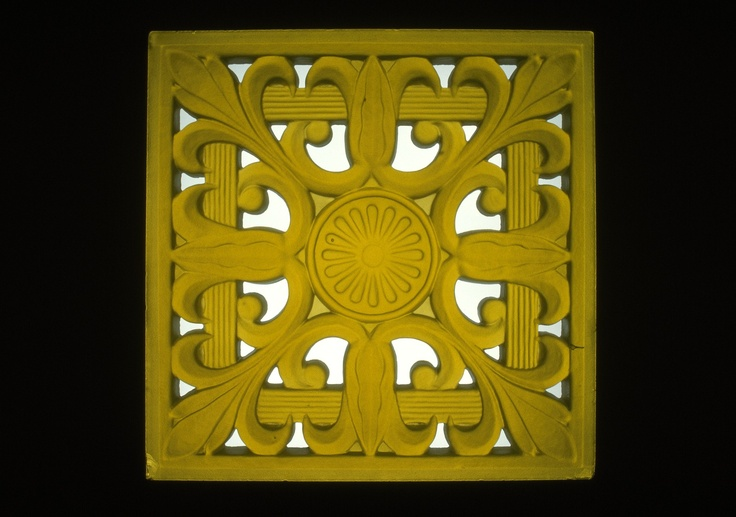 Panel by Frederick #Carder, 1940-1949 | Corning Museum of #Glass #yellow