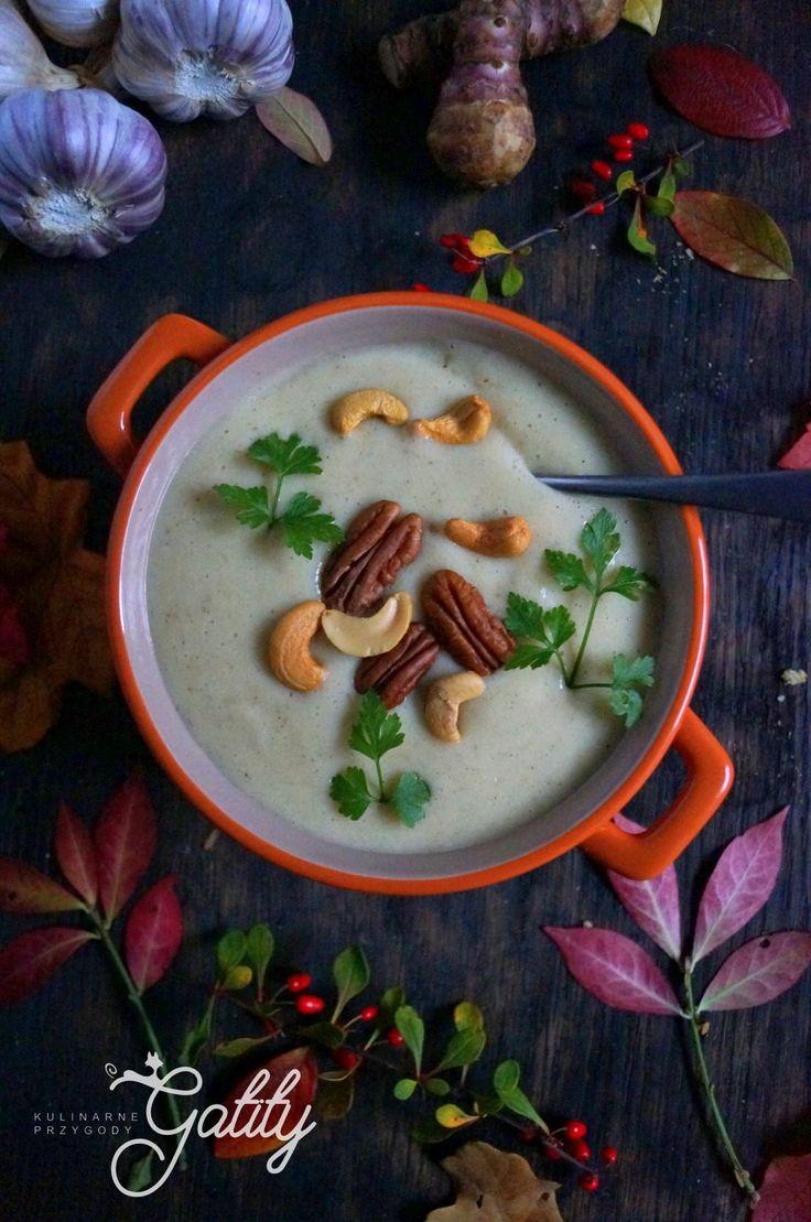 Kulinarne przygody Gatity - przepisy pełne smaku: Zupa krem z topinambura