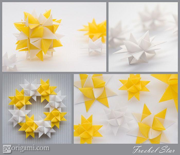 german paper stars Super origami star - bright rotating star out of paper (origami swirl star torus by yuri shumakov) » freewkacom - смотреть онлайн в хорошем.
