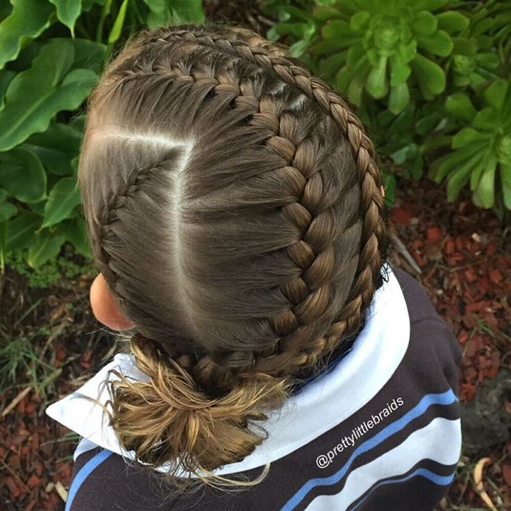 Three Dutch braids.