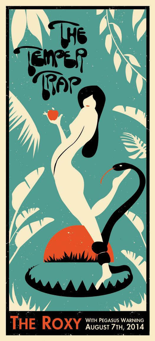 The Temper Trap - Gig Poster on Behance