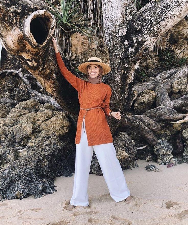 OOTD hijab untuk ke pantai di 2020 (Dengan gambar ...