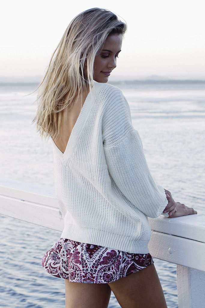 Dreamlike Knit in White. Shop it now at- http://www.her-empire.com/collections/outerwear/products/dreamlike-knit-in-white