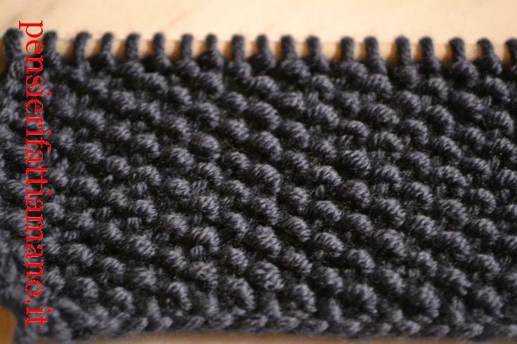 Lavorare a maglia: il punto grana di riso – Pensieri fatti a mano