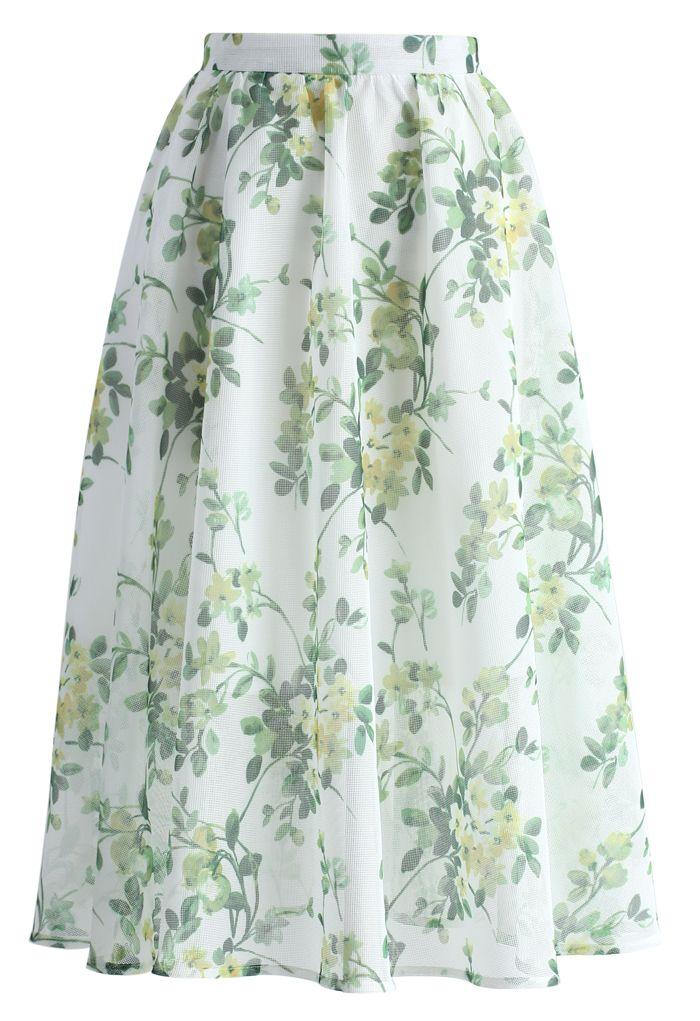 Meadow Serenades A-line Midi Skirt - New Arrivals - Retro, Indie and Unique Fashion