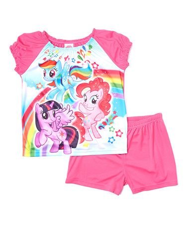Look what I found on #zulily! Pink My Little Pony Sleep Tee & Shorts - Girls by My Little Pony #zulilyfinds