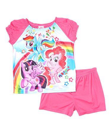 Pink My Little Pony Sleep Tee & Shorts - Girls #zulily #zulilyfinds