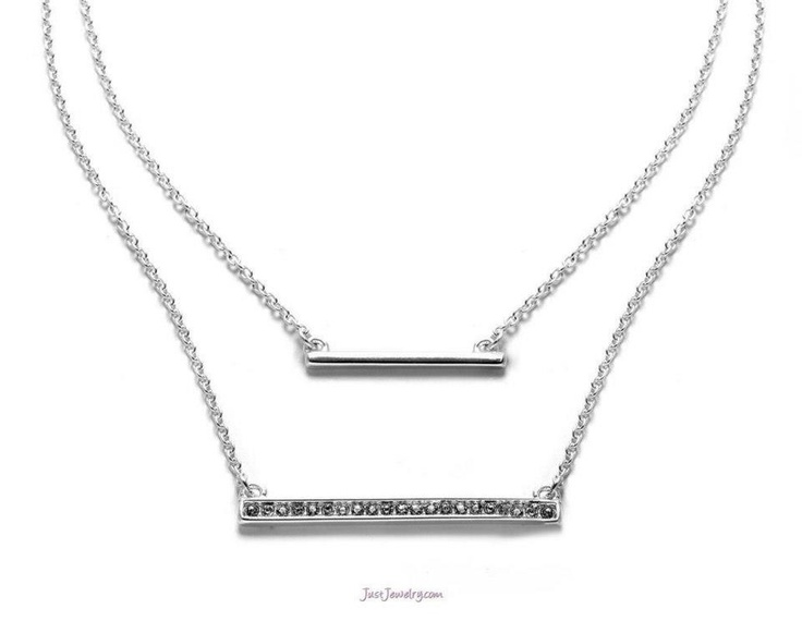 "Perfect Necklace to compliment any wrist stack!  ""Smitten"" by: Just Jewelry"