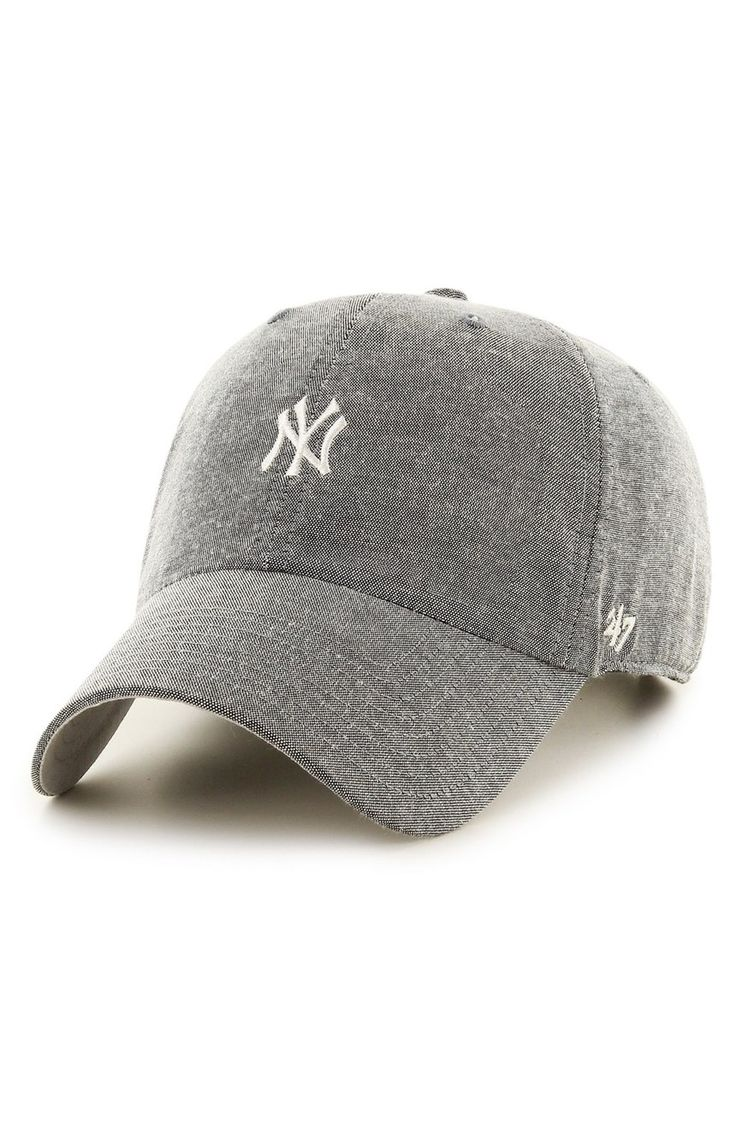 Loving the updated take on this classic baseball hat crafted from richly textured cotton pinpoint oxford.