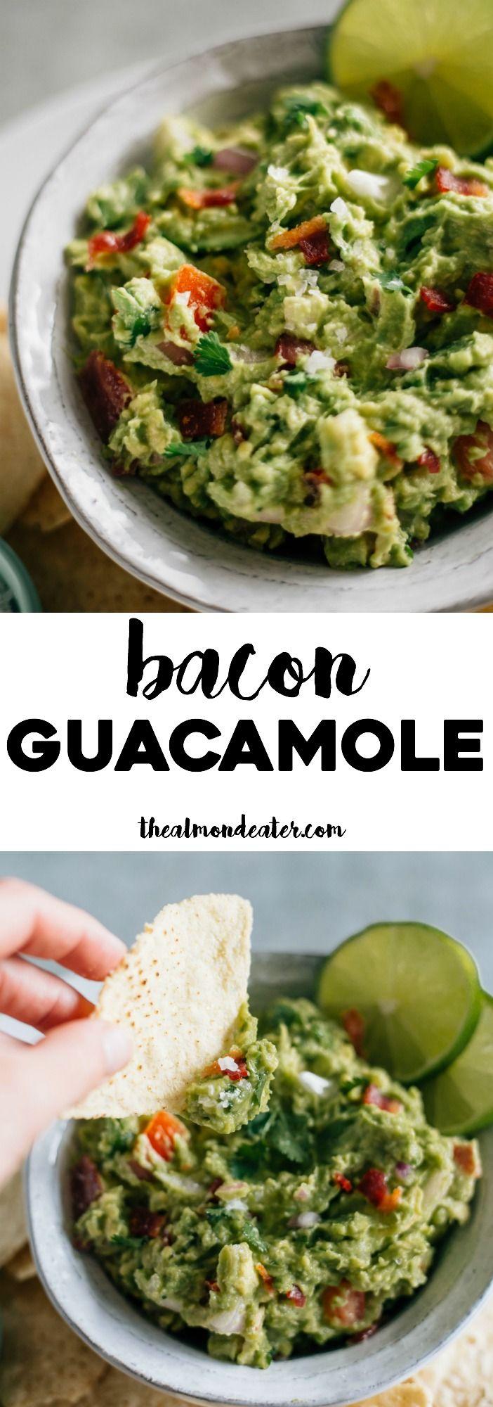 Bacon Guacamole | Next time you make guacamole, add bacon to it. SO good! | thealmondeater.com