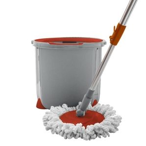 The Ultimate Spinning Mop and Bucket! It lets you soak and lather the mop head then lift and spin off excess water without ever touching a dirty mop head again. It's no-mess mopping! I want this!