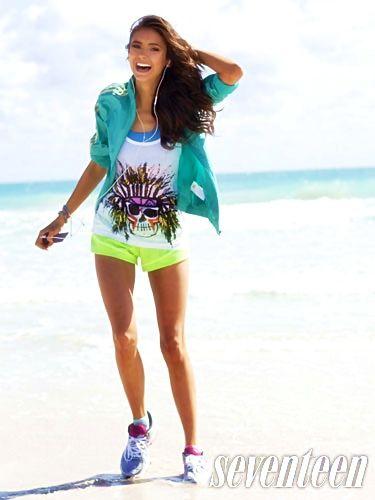 Nina Dobrev. #Beauty #SportOutfit