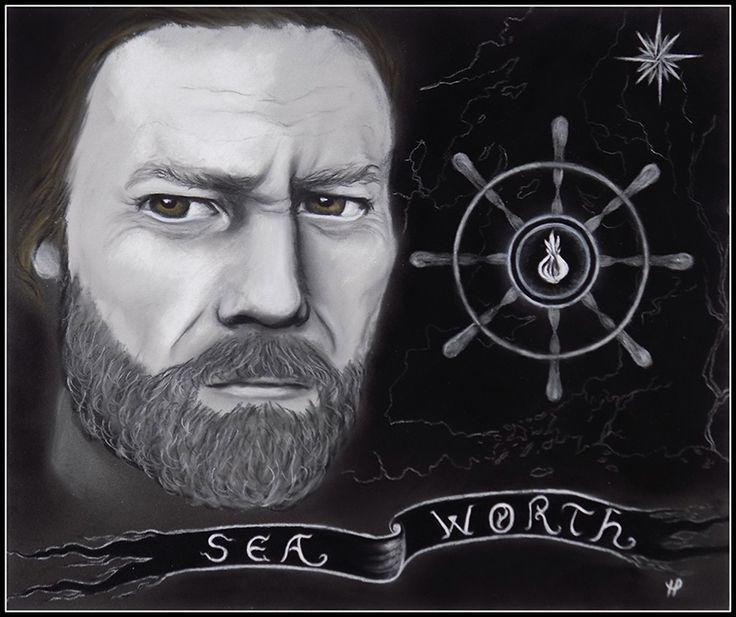 Davos Seaworth (art by Anastasia Robozeeva)