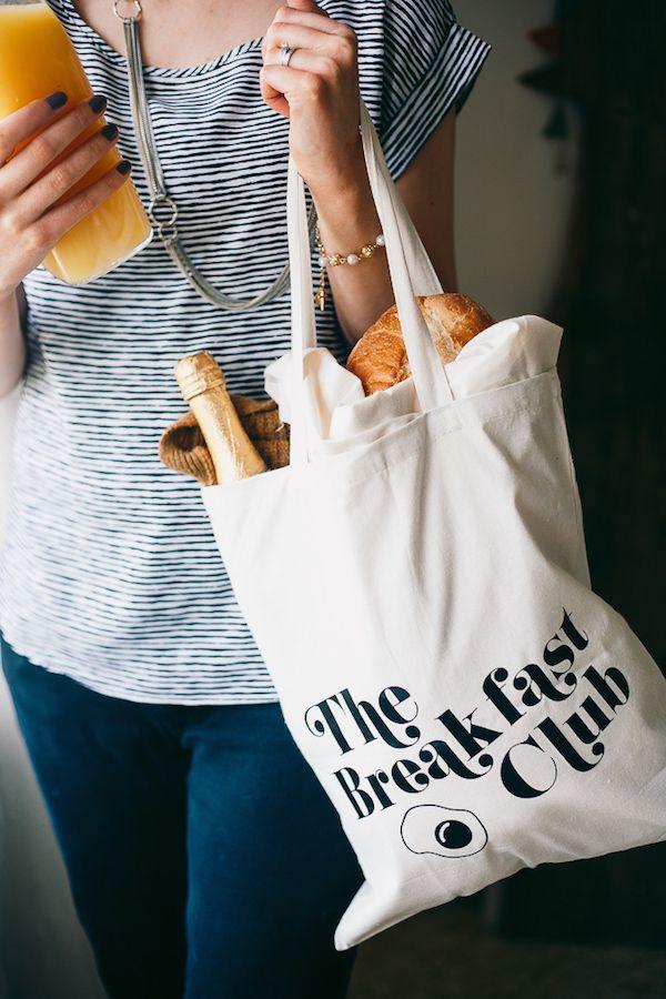 diy breakfast club tote bags #discoveries #coffeeathome